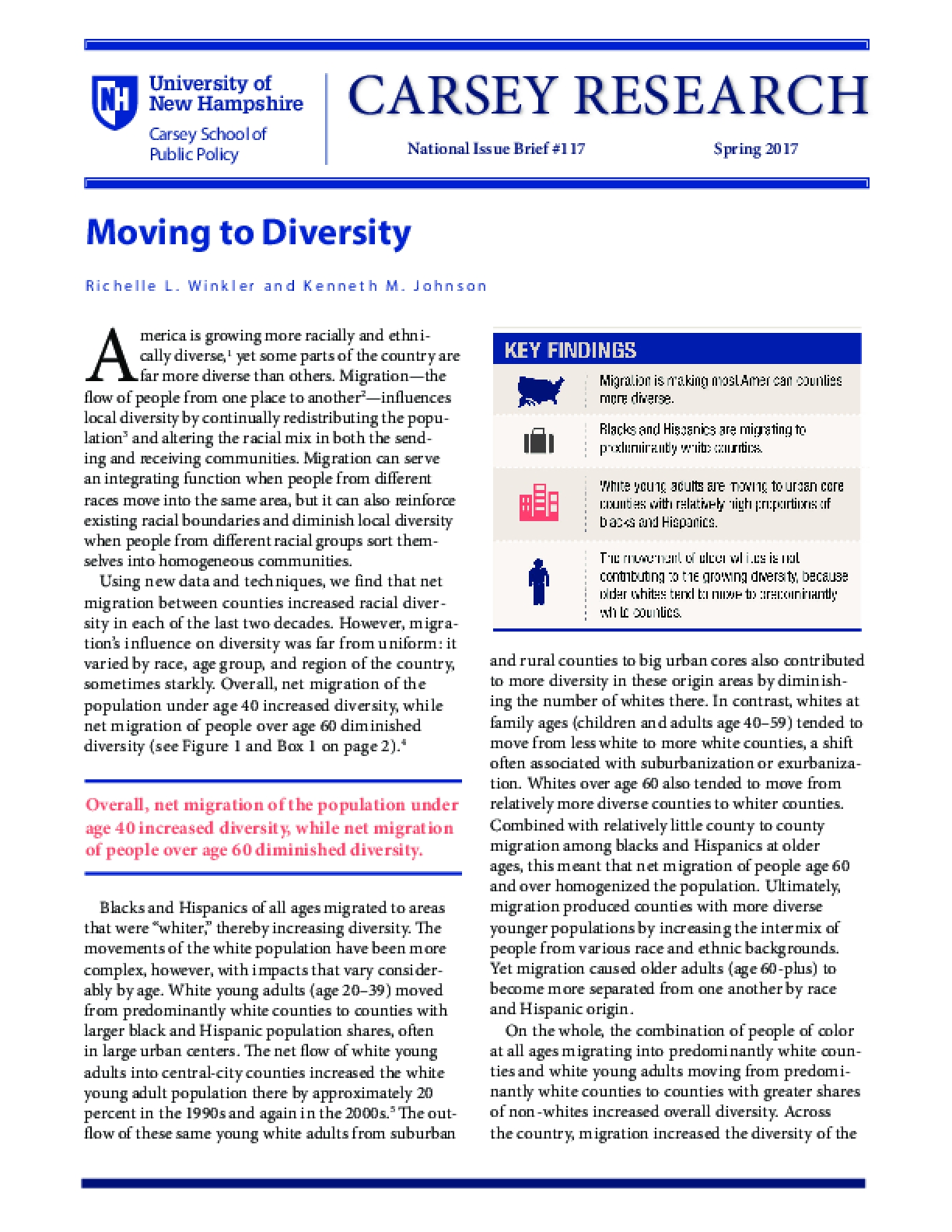 Moving to Diversity