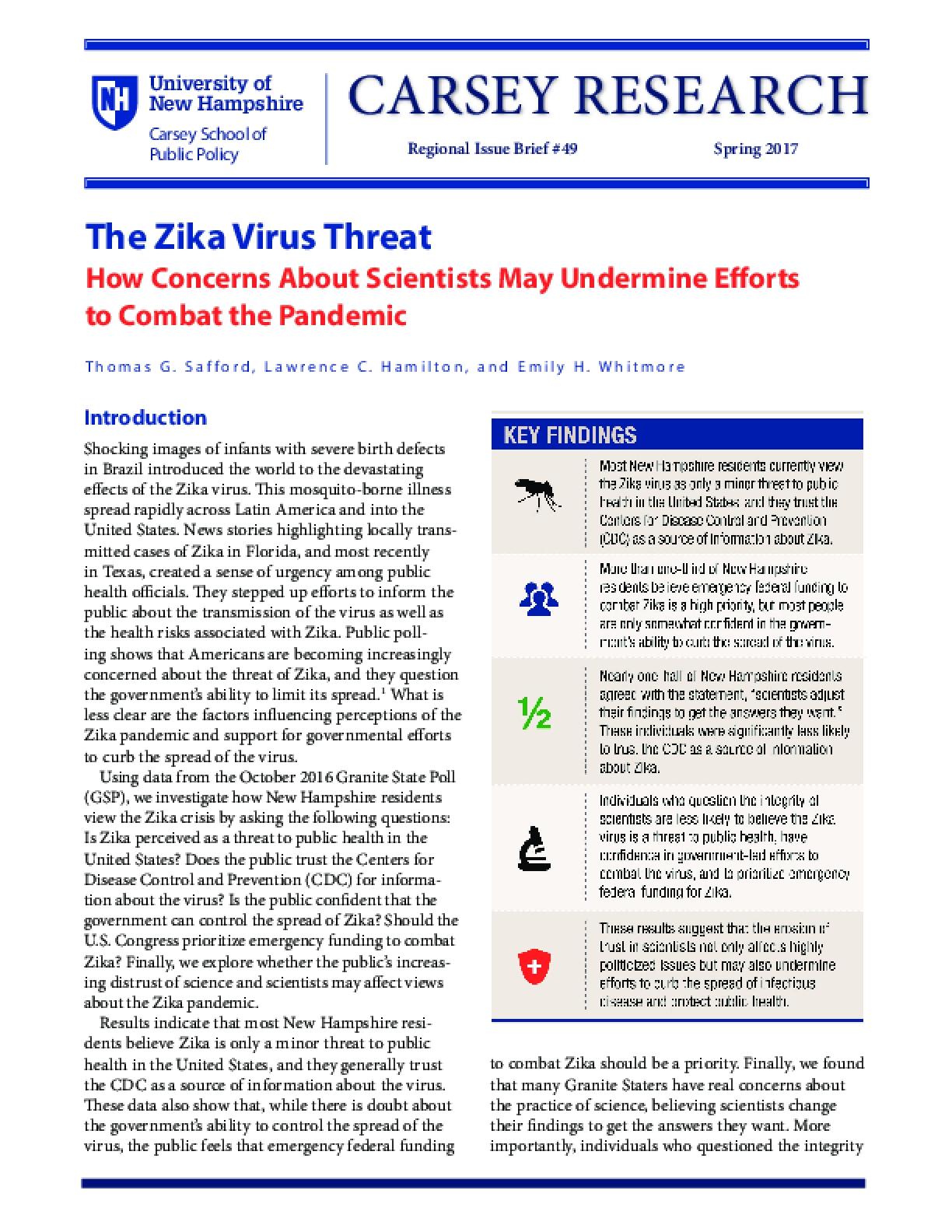 The Zika Virus Threat