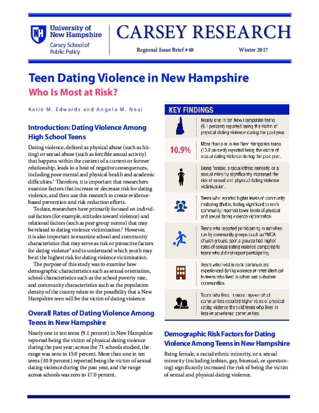Teen Dating Violence in New Hampshire