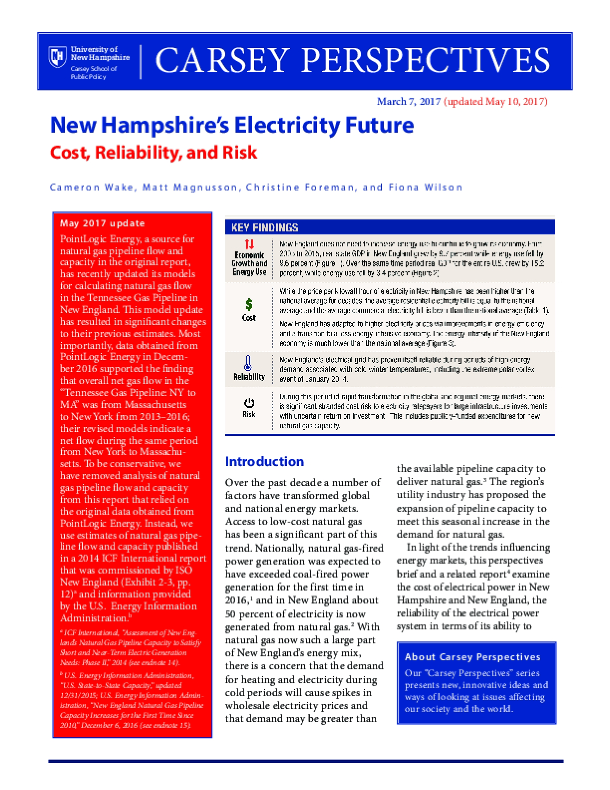 Carsey Perspectives: New Hampshire's Electricity Future