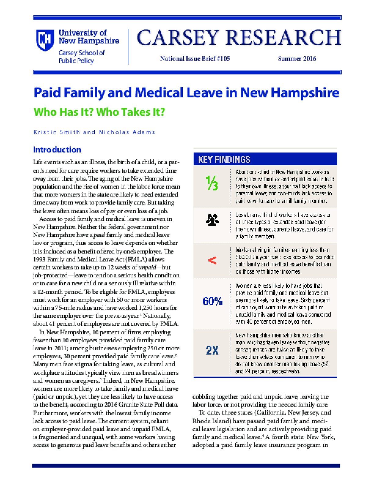 Paid Family and Medical Leave in New Hampshire