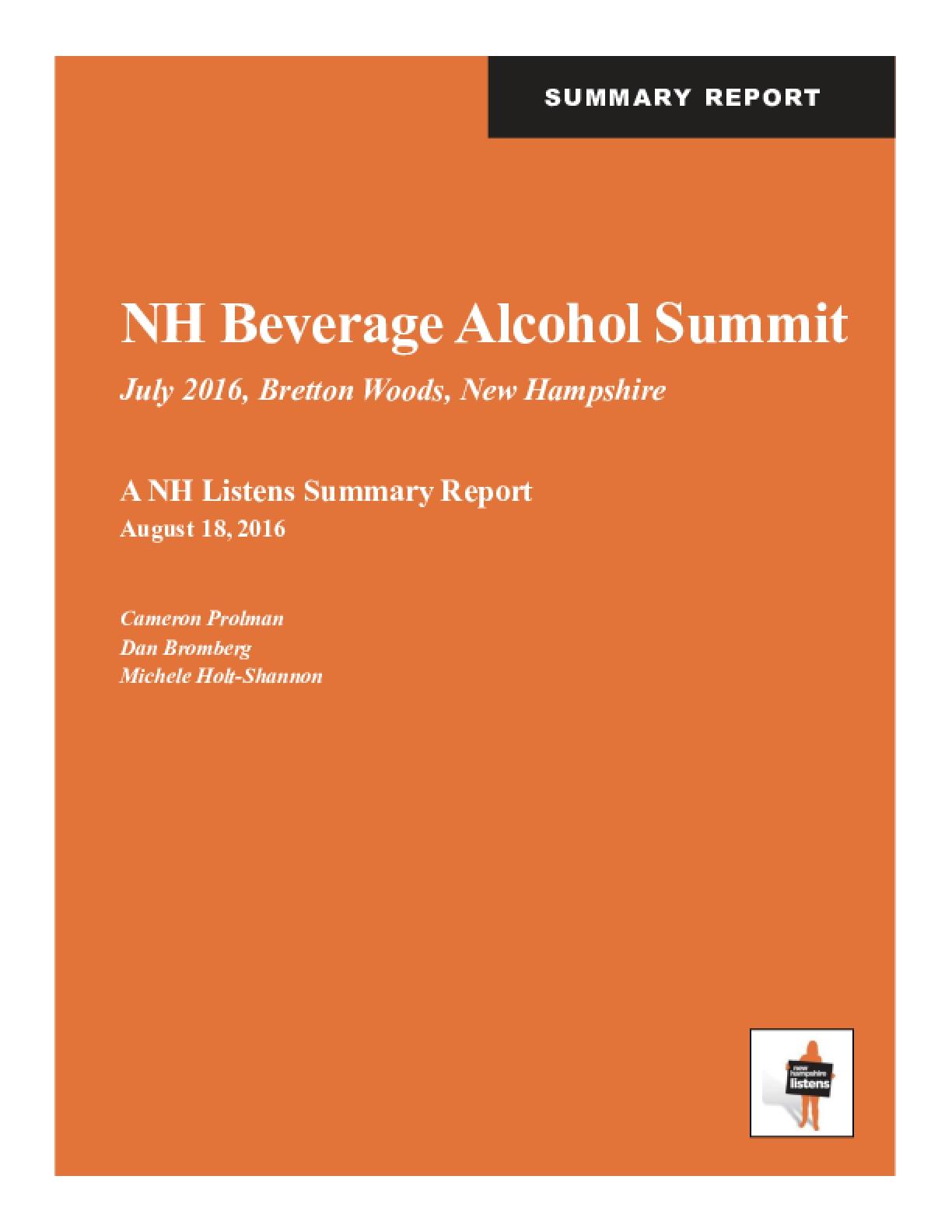 NH Beverage Alcohol Summit