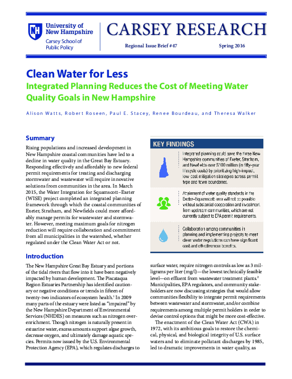 Clean Water for Less