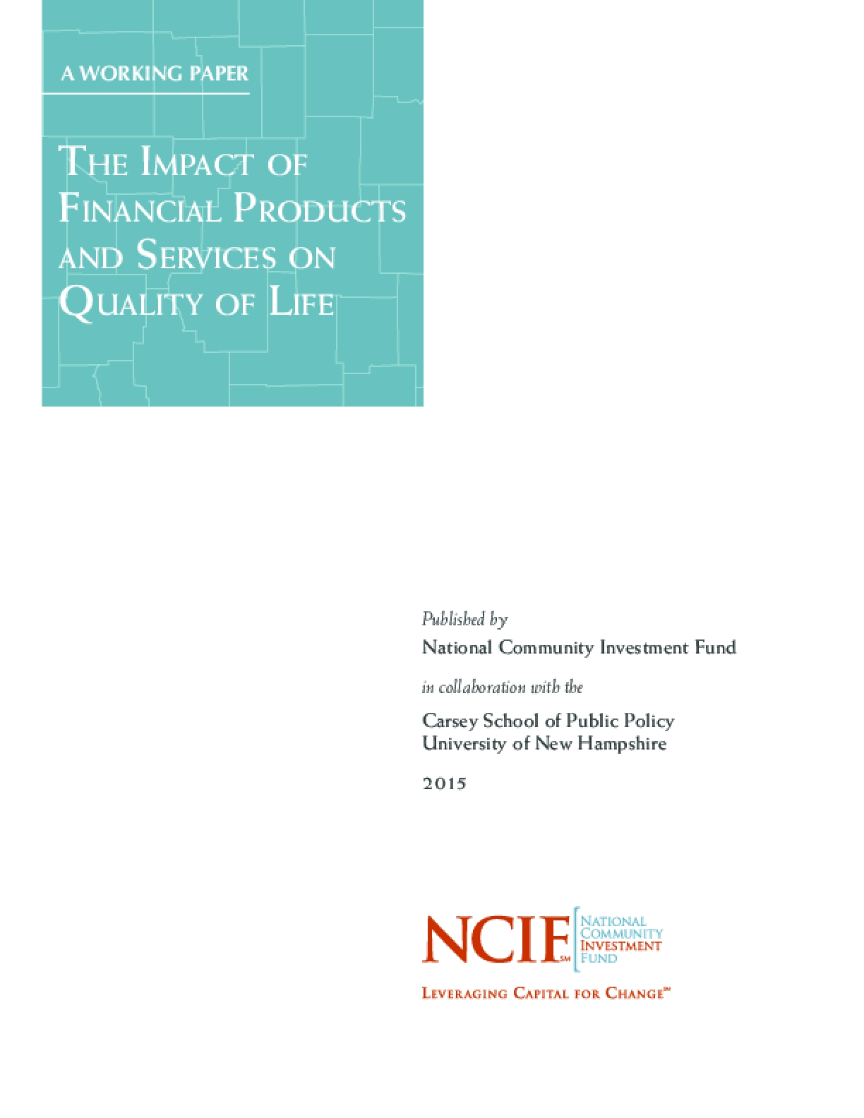 The Impact of Financial Products and Services on Quality of Life