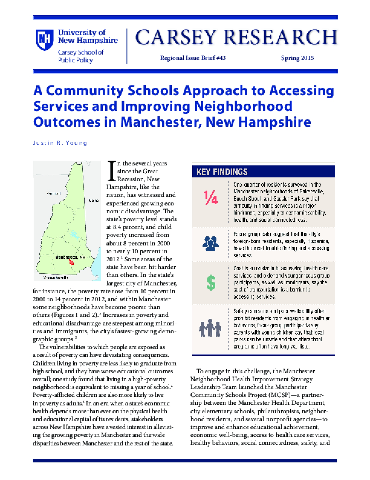 A Community Schools Approach to Accessing Services and Improving Neighborhood Outcomes in Manchester, New Hampshire