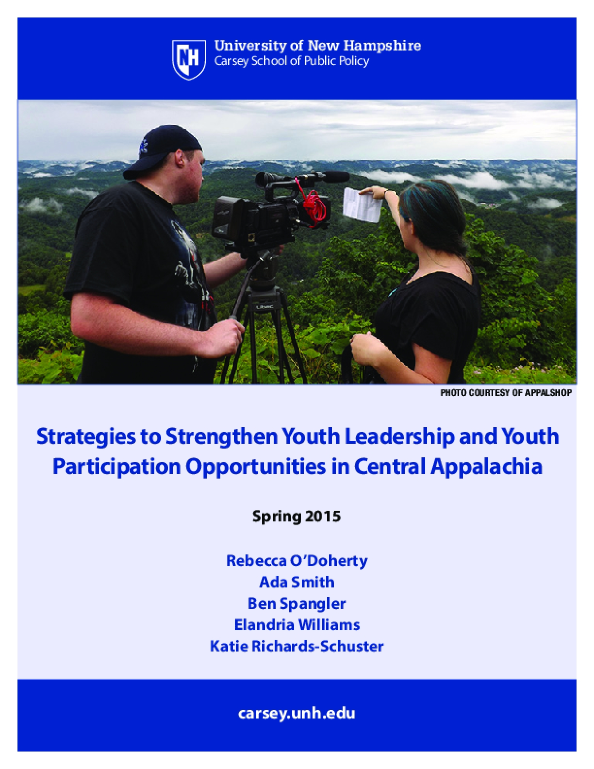 Strategies to Strengthen Youth Leadership and Youth Participation Opportunities in Central Appalachia