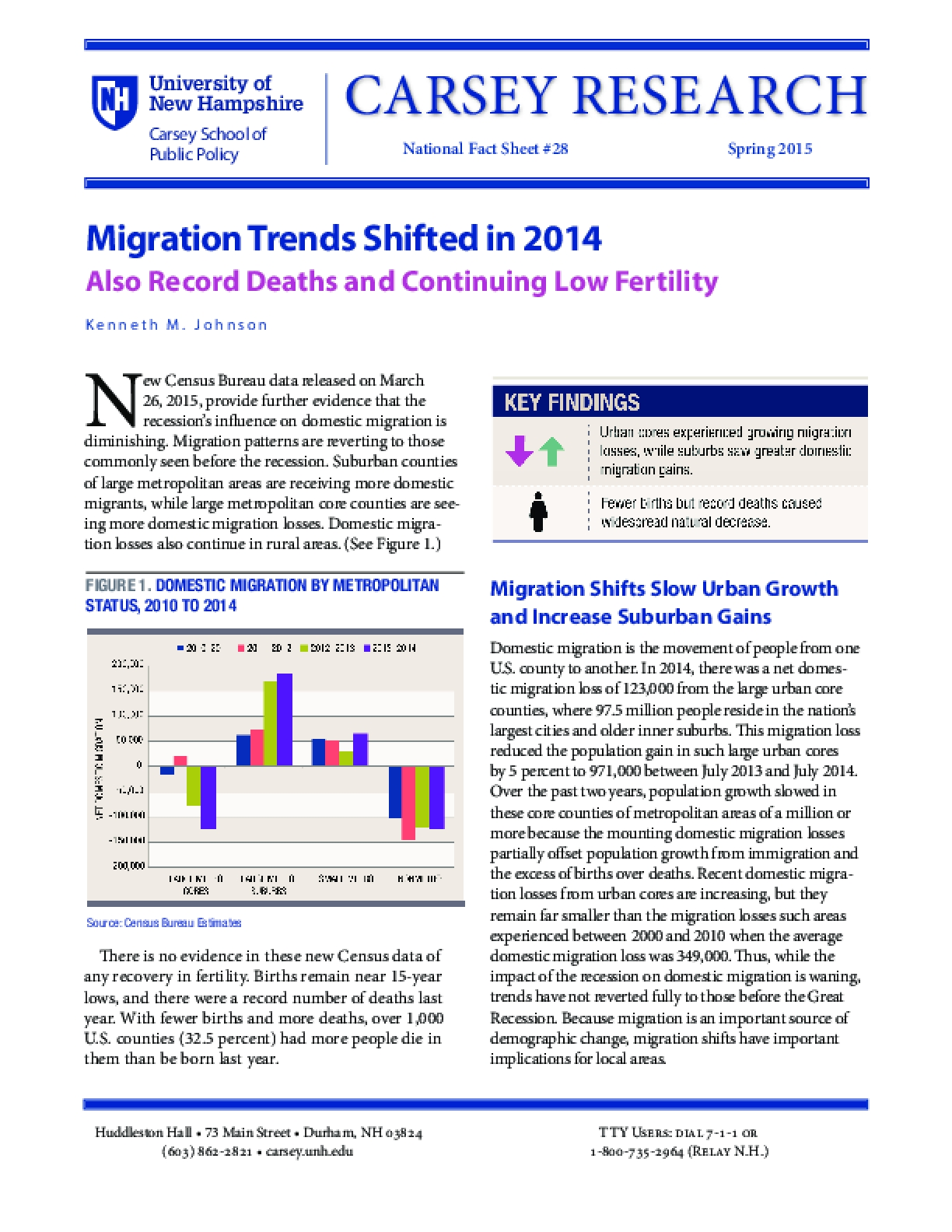 Migration Trends Shifted in 2014