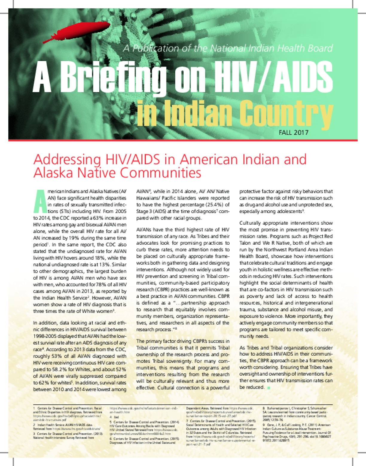 Addressing HIV/AIDS in American Indian and Alaska Native Communities