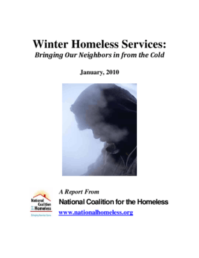 Winter Homeless Services: Bringing Our Neighbors in from the Cold 2009