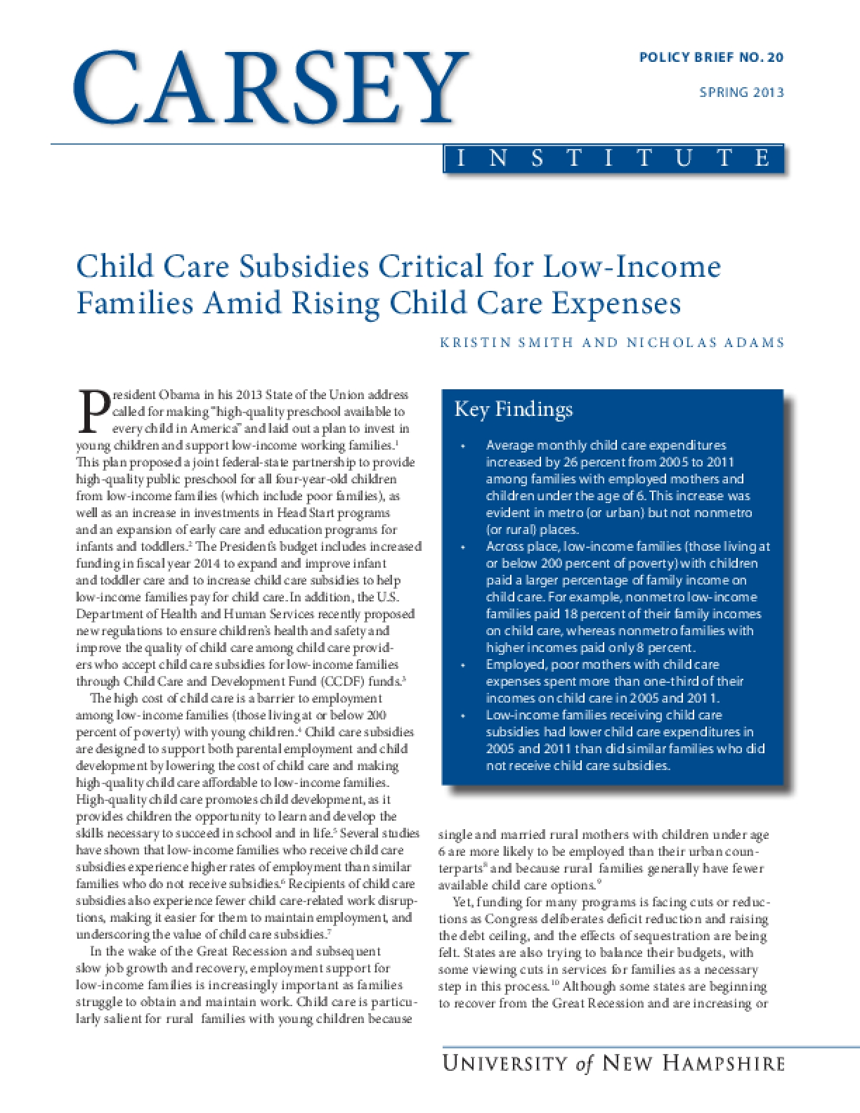 Child Care Subsidies Critical for Low-Income Families Amid Rising Child Care Expenses