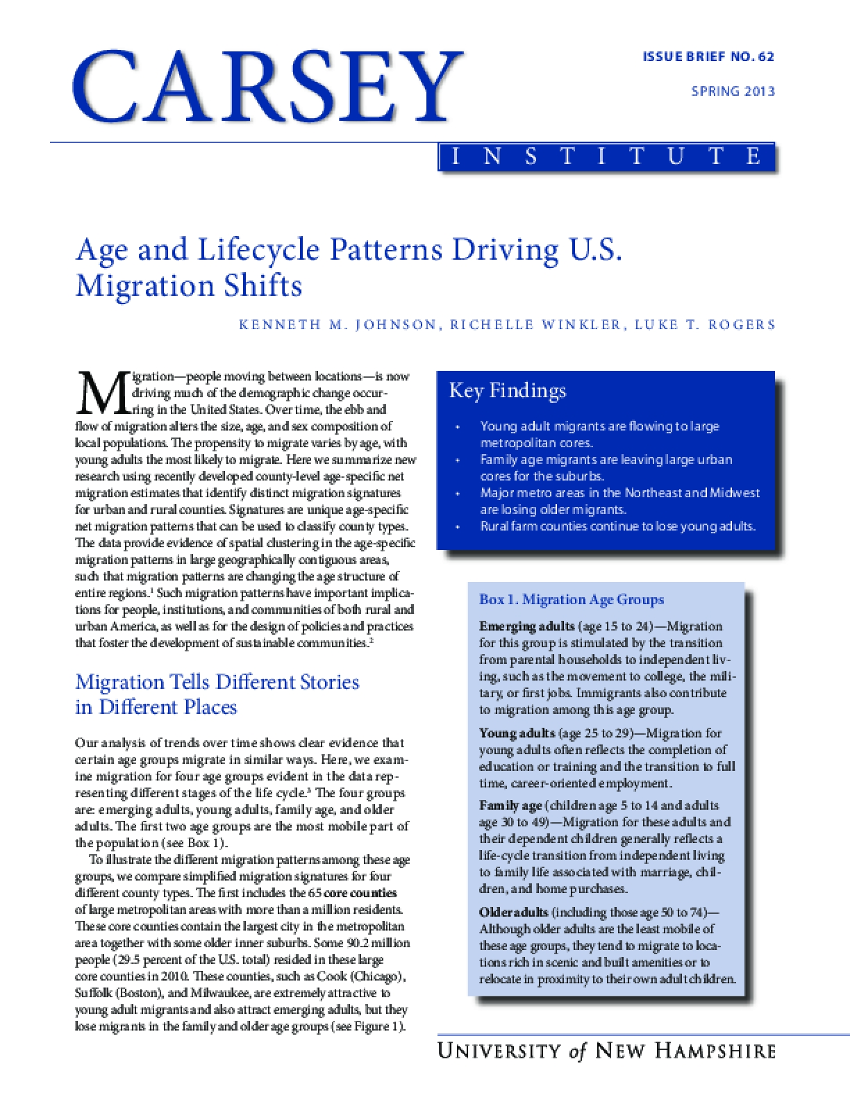 Age and Lifecycle Patterns Driving U.S. Migration Shifts