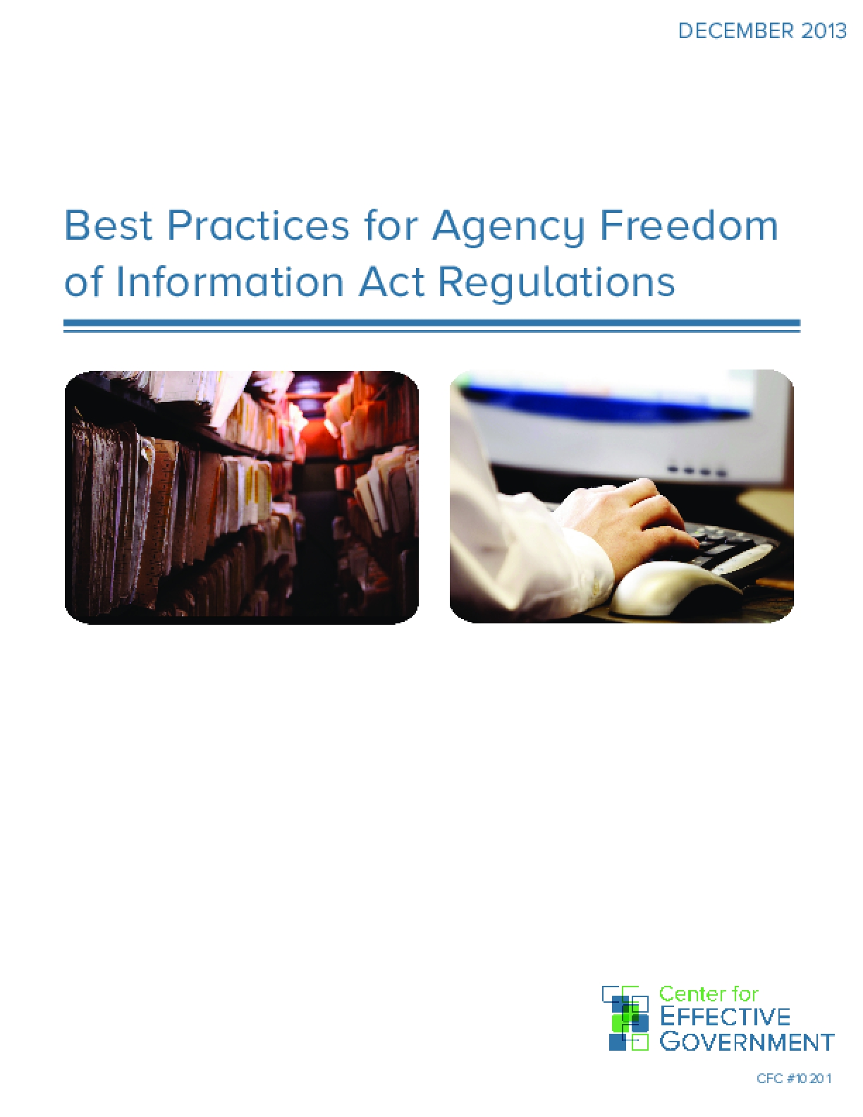 Best Practices for Agency Freedom of Information Act Regulations