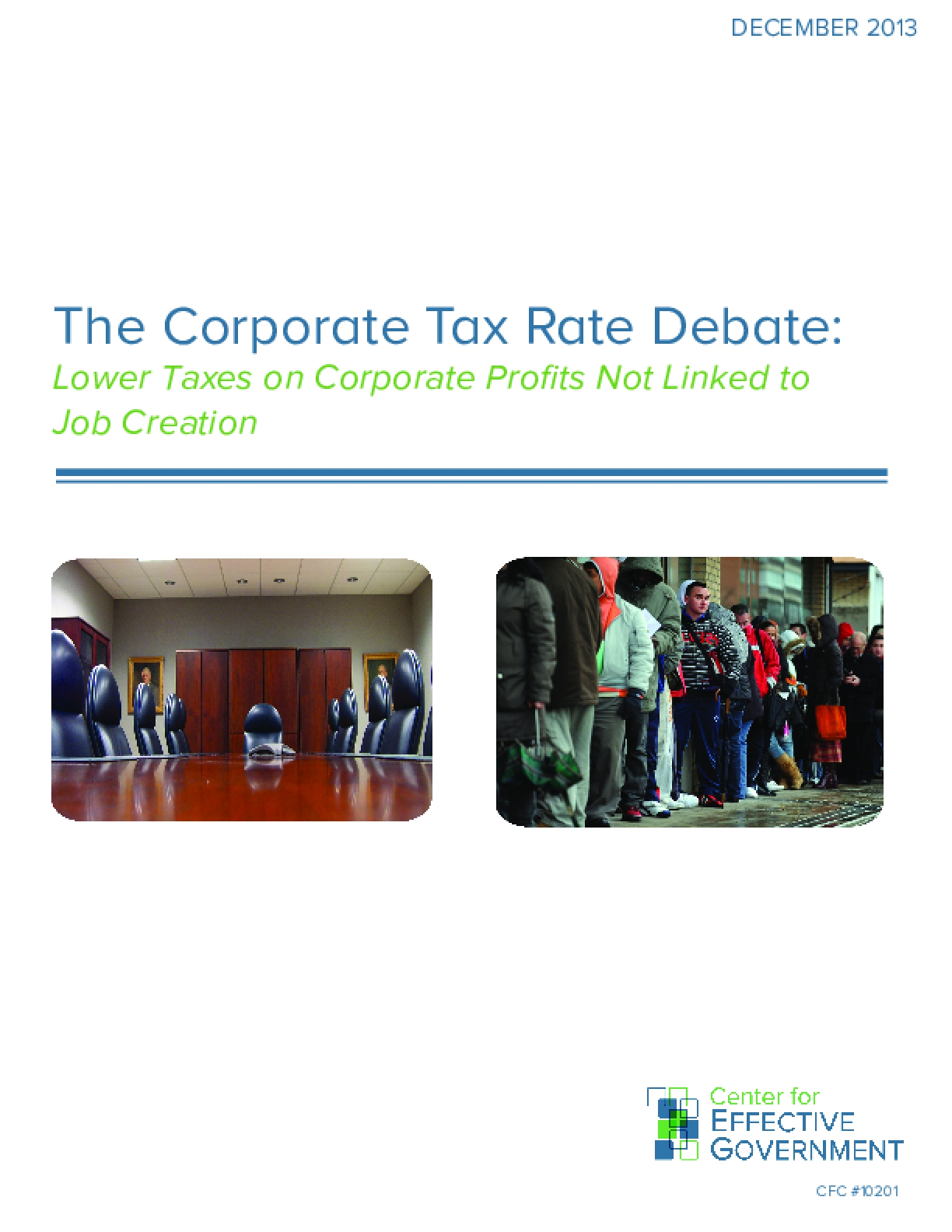 The Corporate Tax Rate Debate: Lower Taxes on Corporate Profits Not Linked to Job Creation