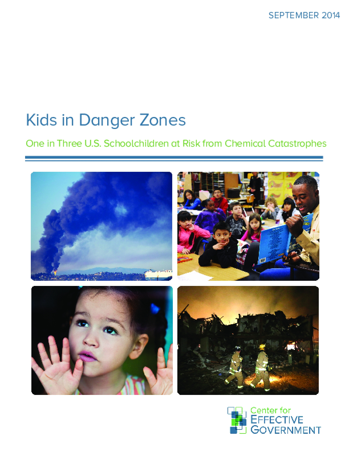 Kids in Danger Zones: One in Three U.S. Schoolchildren at Risk from Chemical Catastrophes
