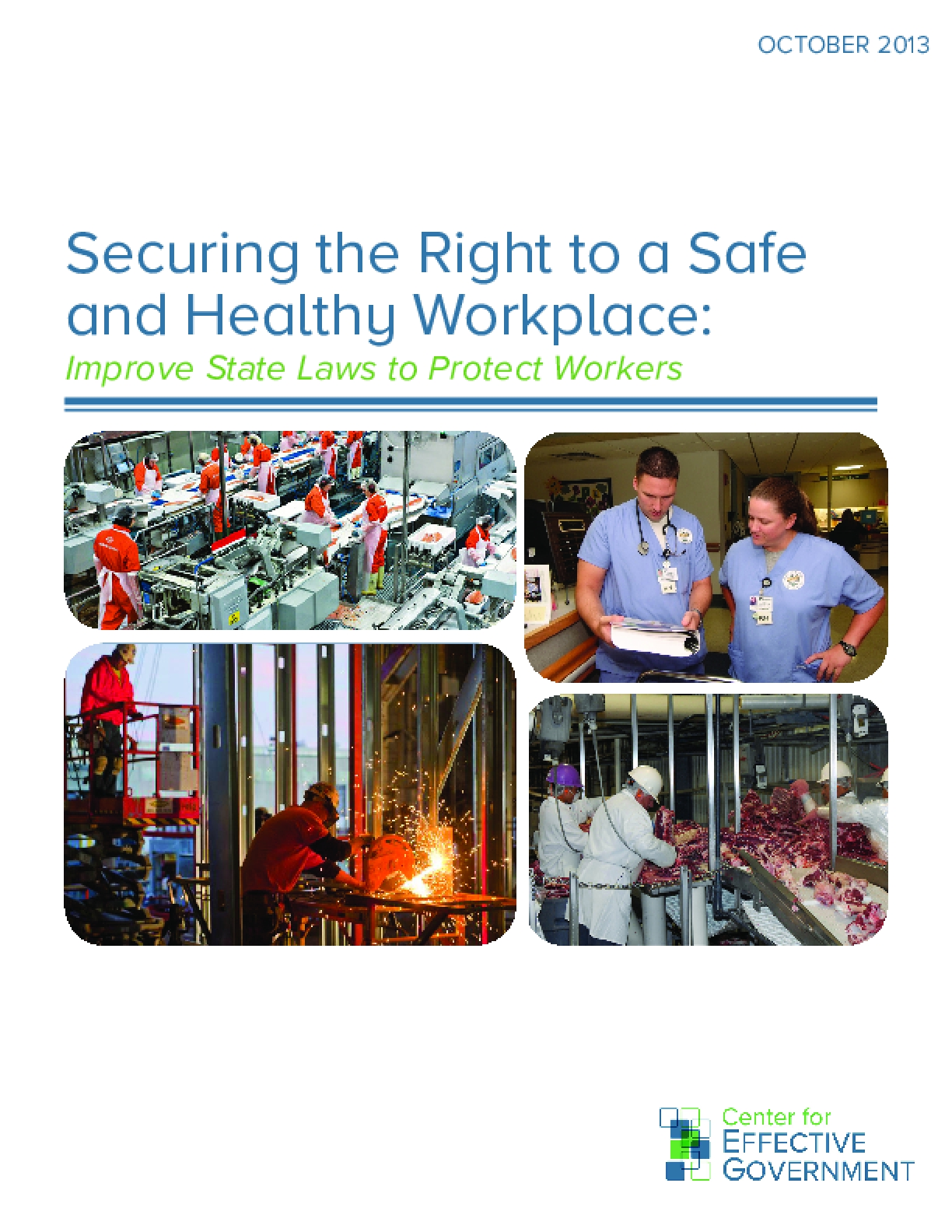 Securing the Right to a Safe and Healthy Workplace: Improve State Laws to Protect Workers