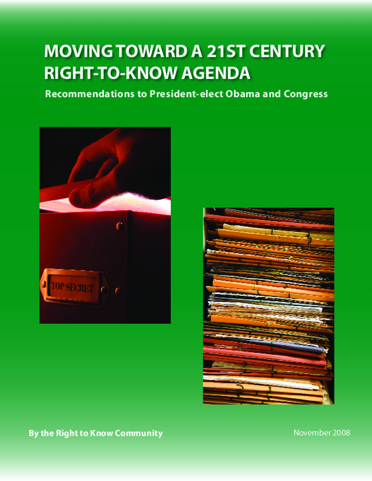 Moving Toward a 21st Century Right-to-Know Agenda
