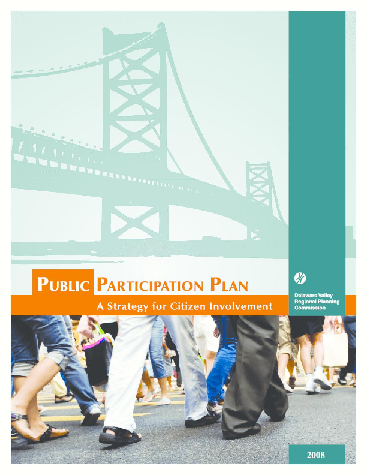 Public Participation Plan: A Strategy for Citizen Involvement