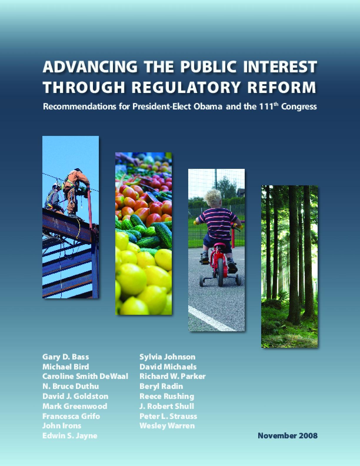 Advancing the Public Interest Through Regulatory Reform