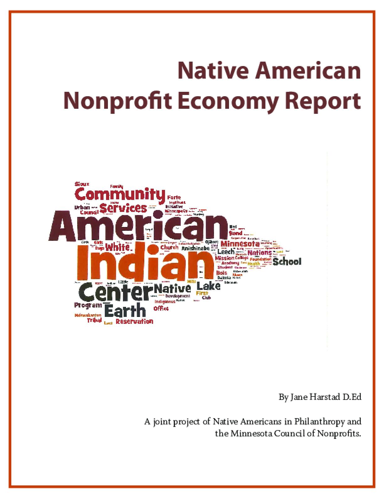 Native American Nonprofit Economy Report