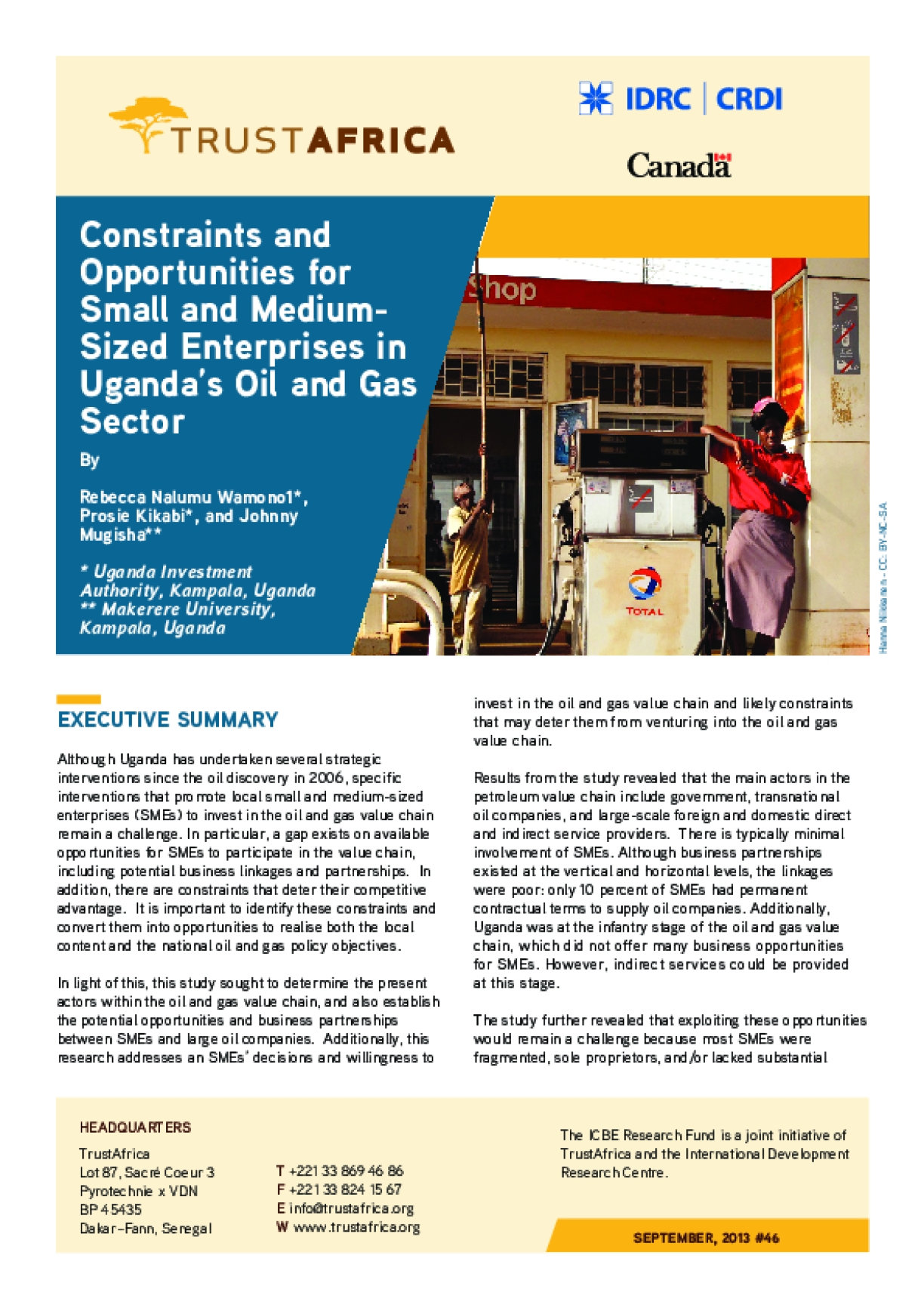 Constraints and Opportunities for Small and Medium- Sized Enterprises in Uganda's Oil and Gas Sector