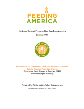 Estimates of Different Clients Across the Whole Feeding America System