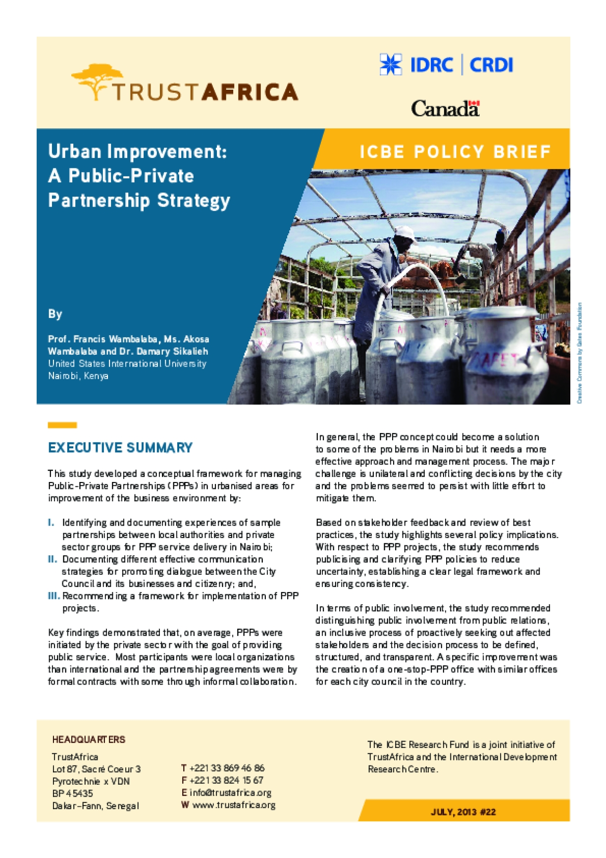Urban Improvement: A Public-Private Partnership Strategy