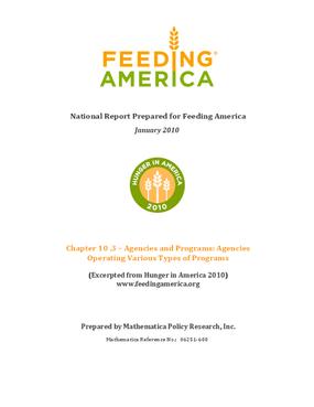 Feeding America Agencies and Food Programs: Agencies Operating Various Types of Programs