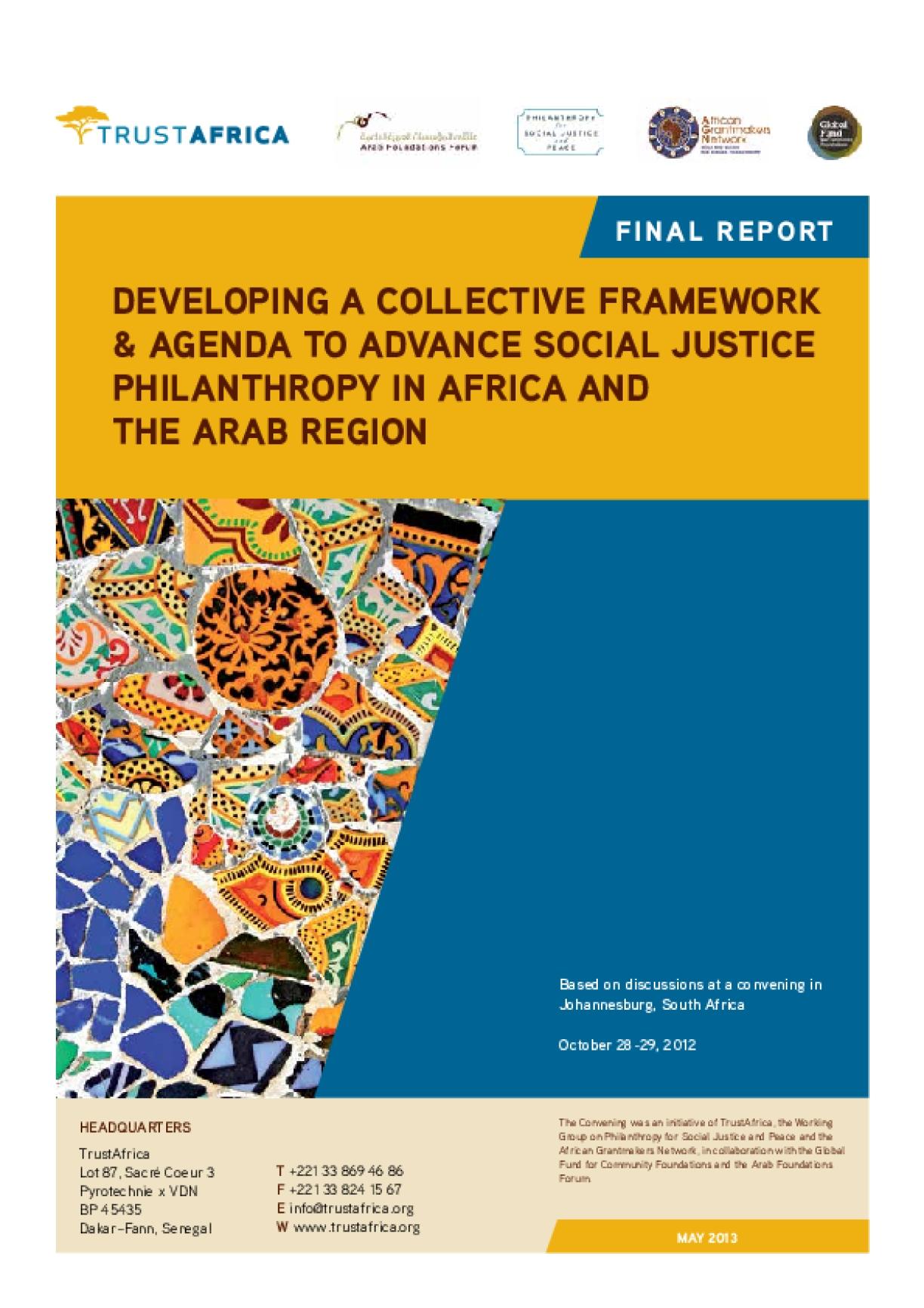 African Social Justice Philanthropy