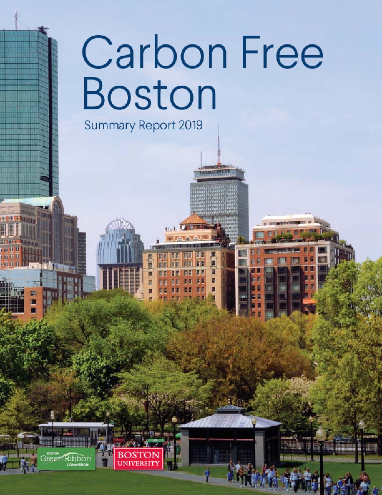 Carbon Free Boston: Summary Report 2019