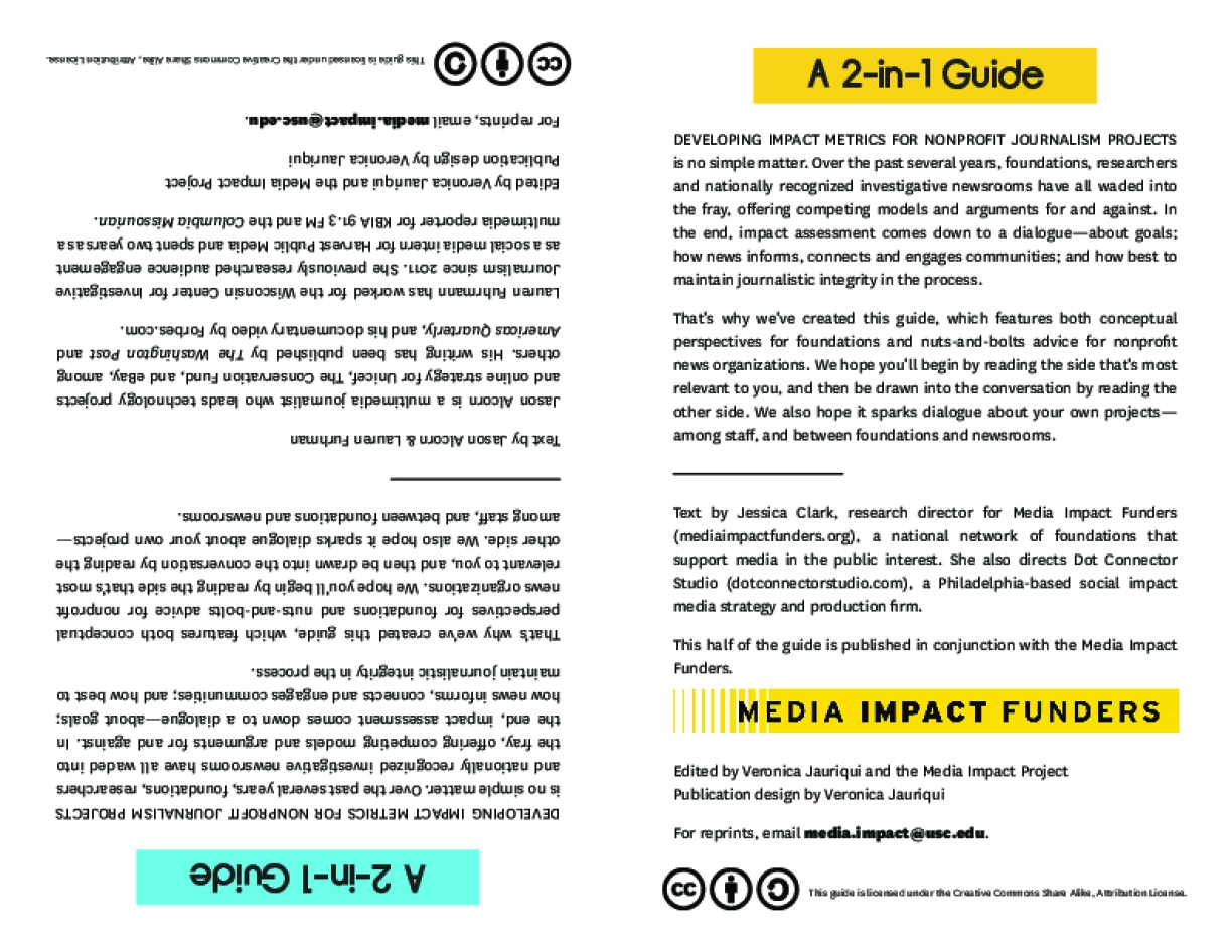 Impact Assessment for Nonprofit News Projects and their Funders