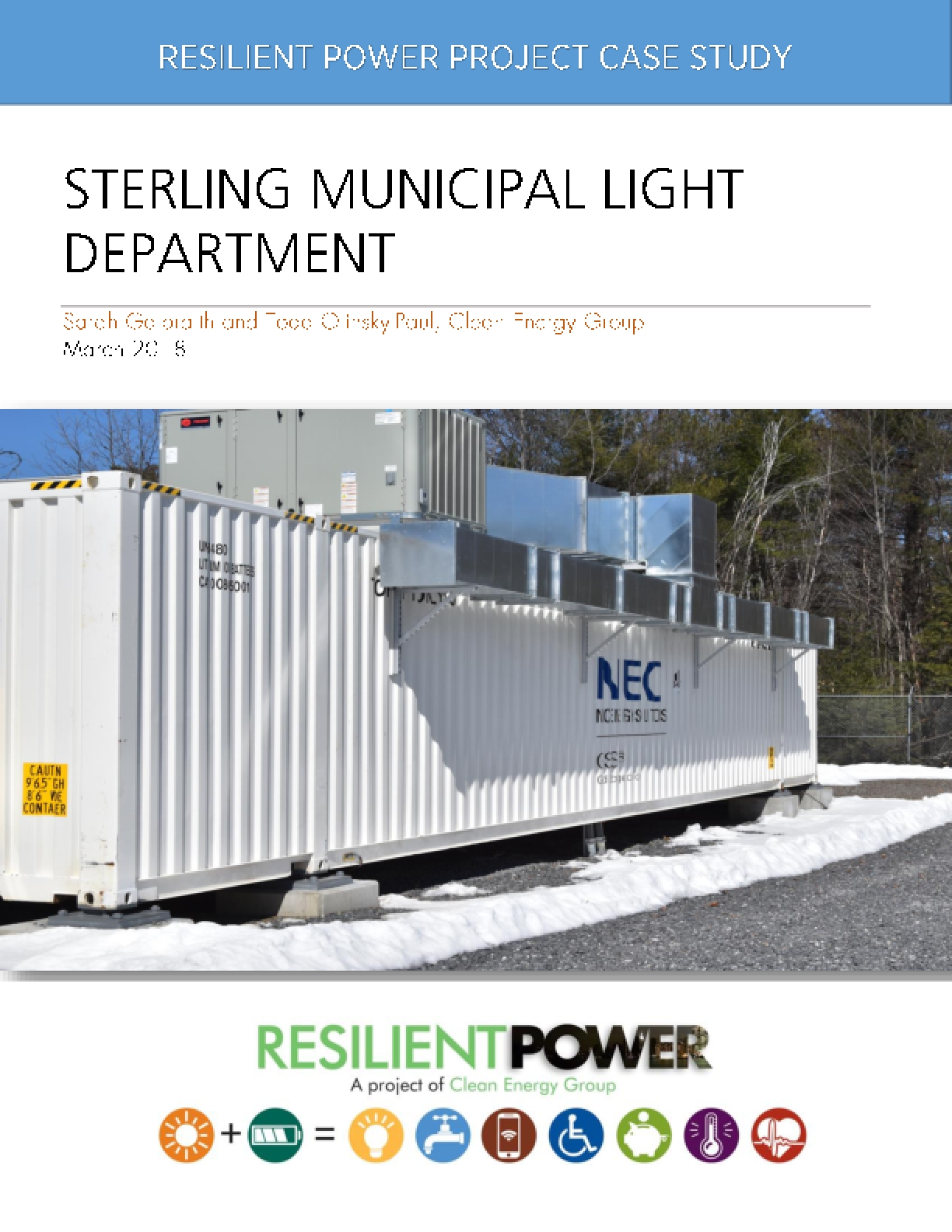 Resilient Power Project Case Study: Sterling Municipal Light Department