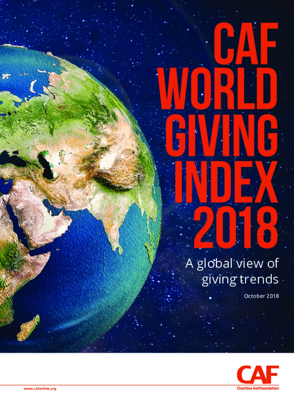 CAF World Giving Index 2018 : A Global View of Giving Trends