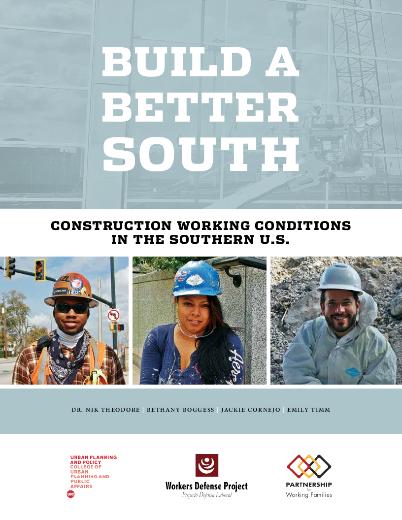 Build a Better South: Construction Working Conditions in the Southern U.S.