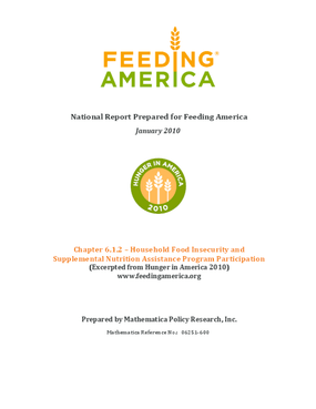 Food Insecurity Among Feeding America Client Households Who Also Receive Benefits from SNAP