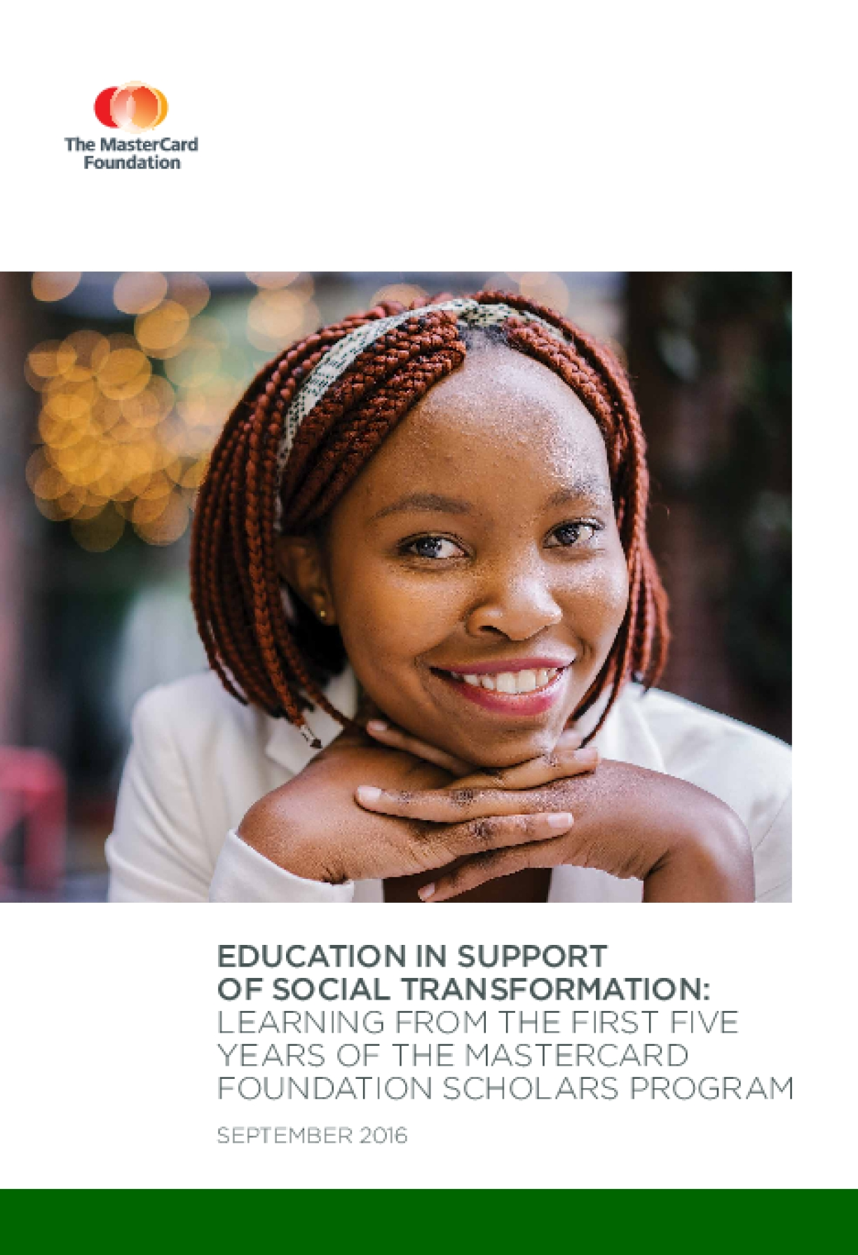Education in Support of Social Transformation