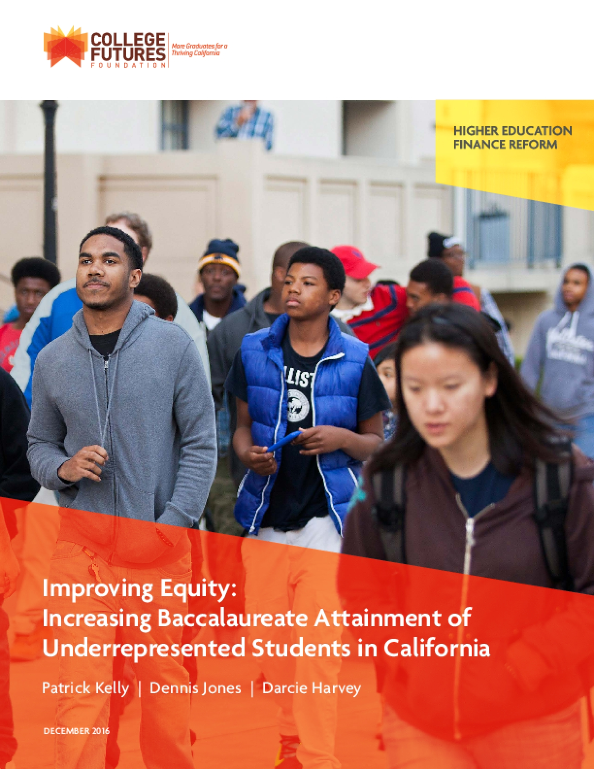 Improving Equity: Improving Baccalaureate Attainment of Underrepresented Students in California