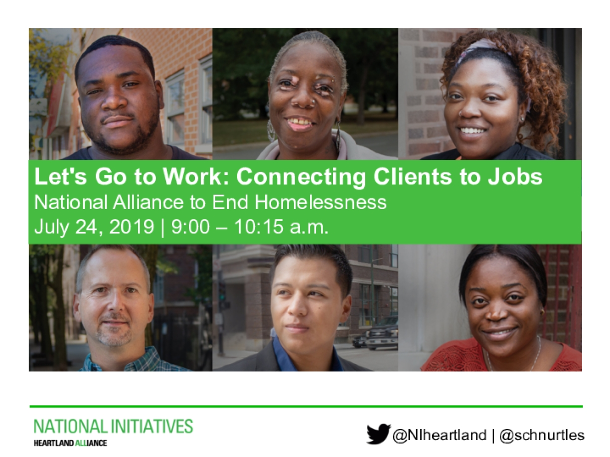 Let's Go to Work: Connecting Clients to Jobs