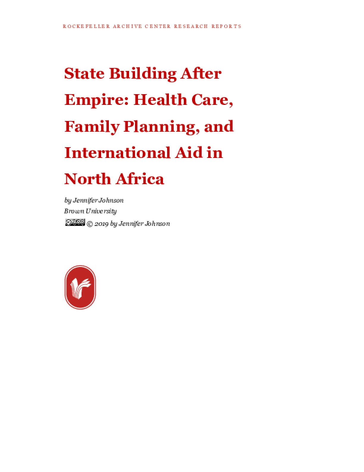 State Building After Empire: Health Care, Family Planning, and International Aid in North Africa