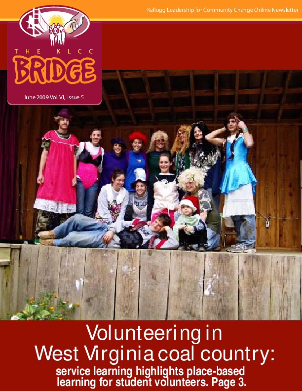 KLCC Bridge -- June 2009: Volunteering in West Virginia Coal Country