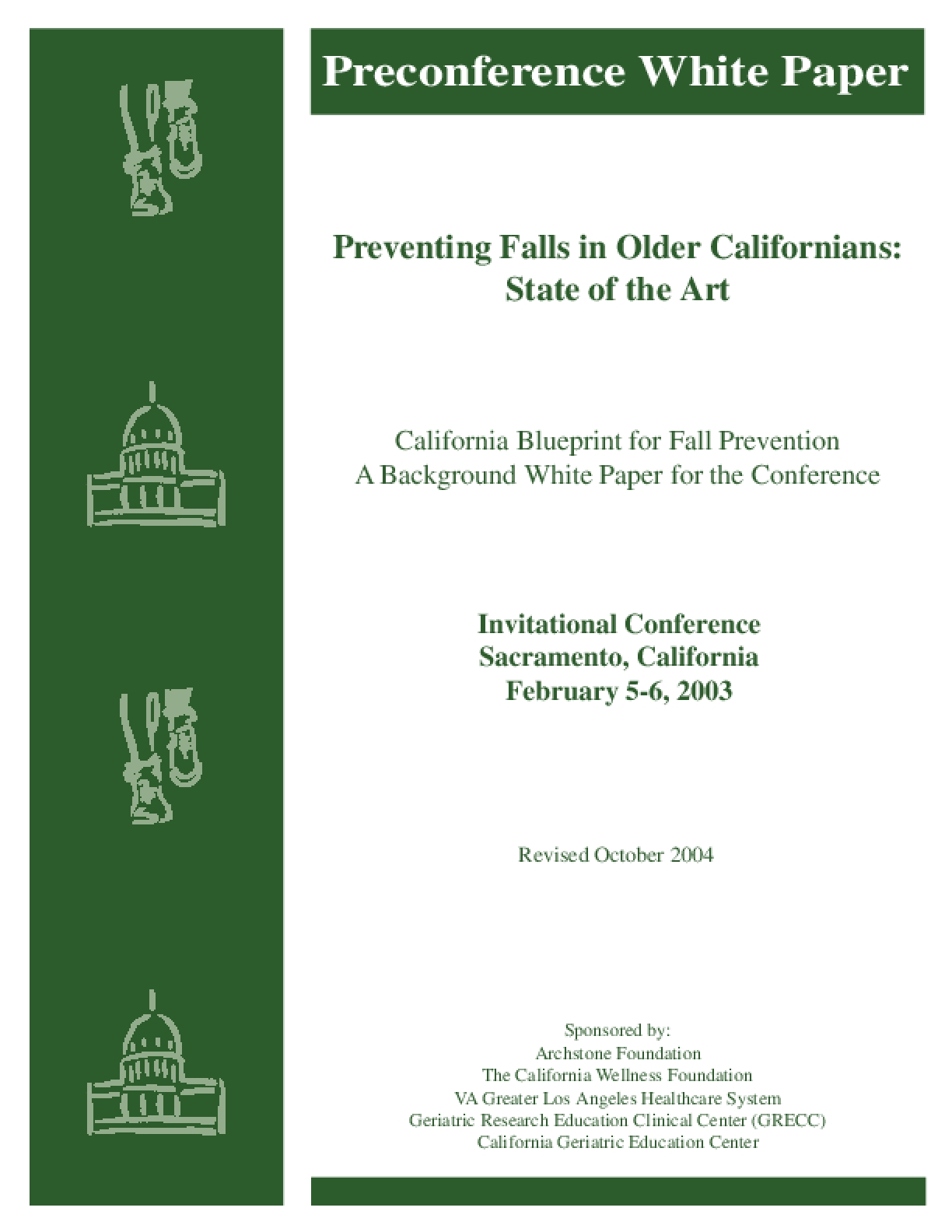 Preventing Falls in Older Californians: State of the Art
