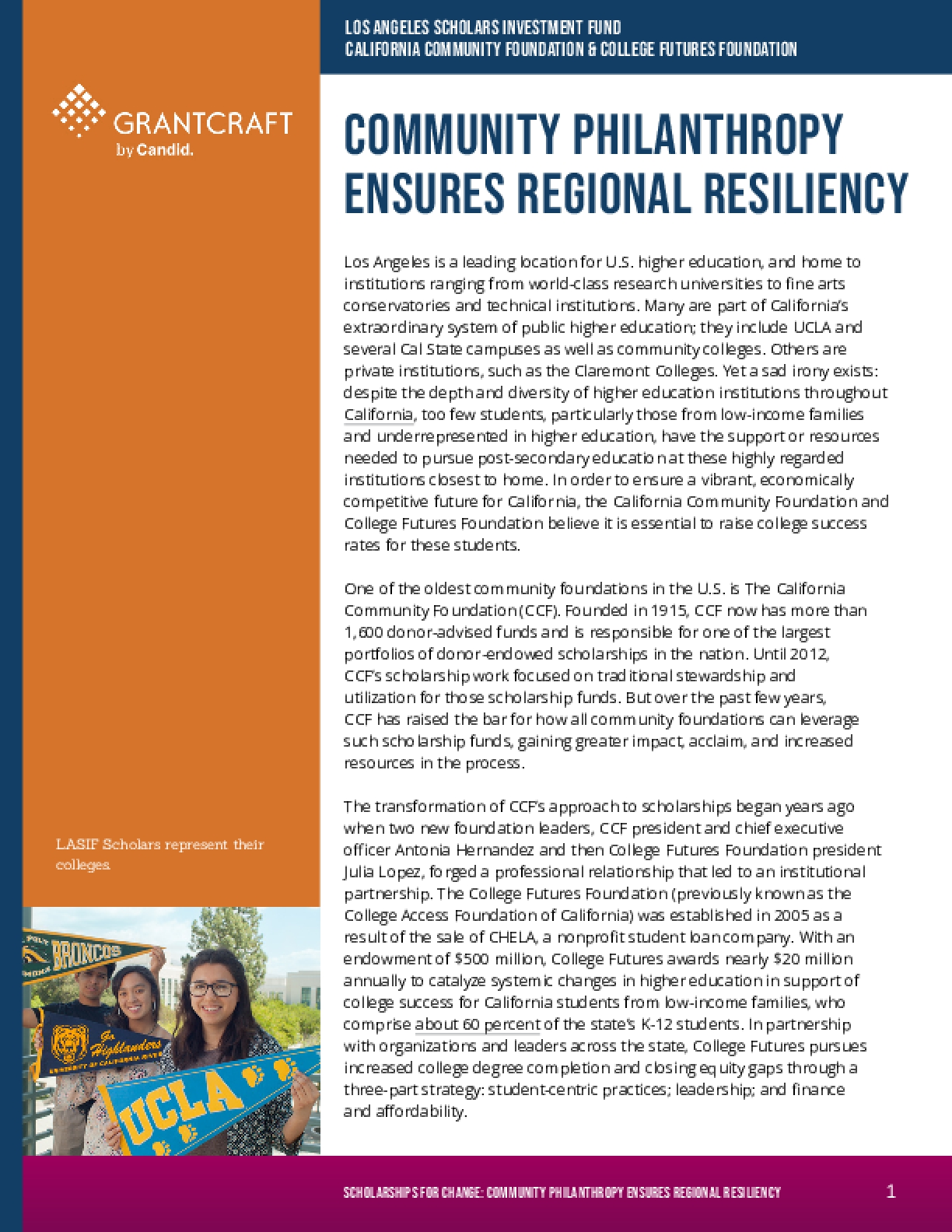 Community Philanthropy Ensures Regional Resiliency