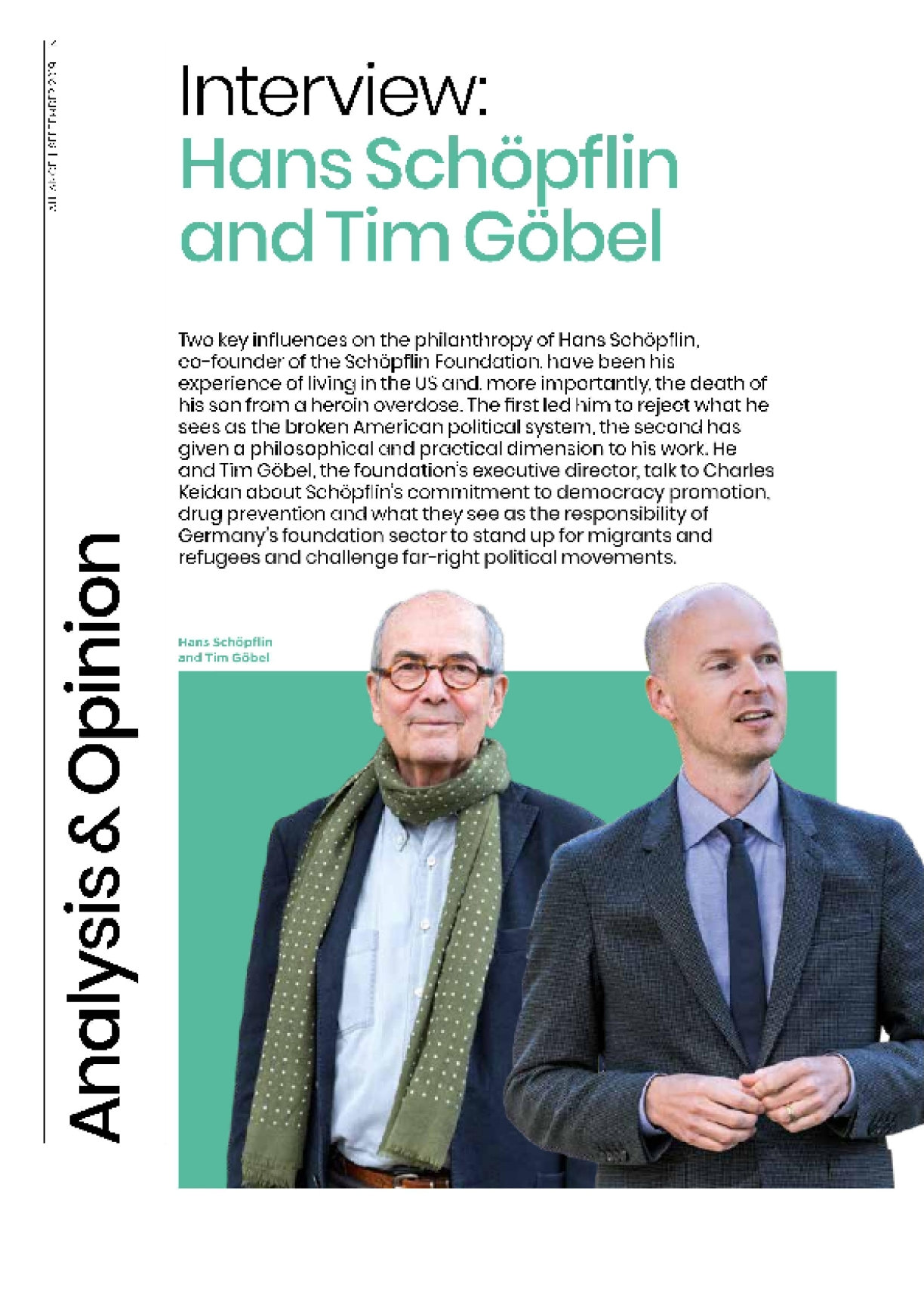 Interview: Hans Schöpflin and Tim Göbel