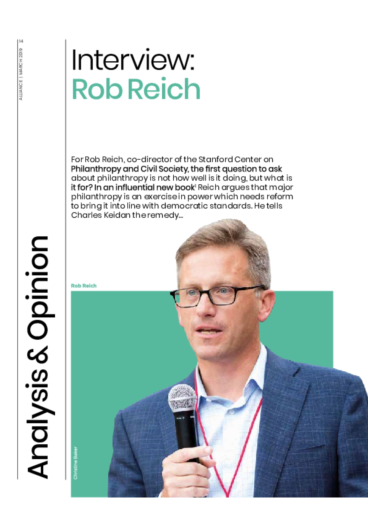 Interview: Rob Reich
