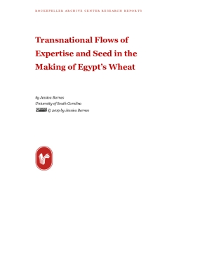 Transnational Flows of Expertise and Seed in the Making of Egypt's Wheat