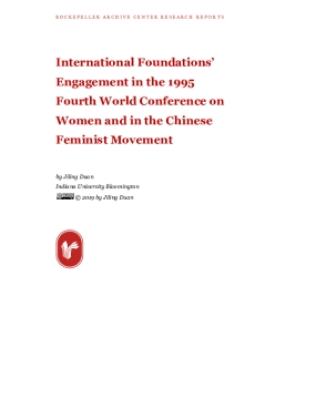 International Foundations' Engagement in the 1995 Fourth World Conference on Women and in the Chinese Feminist Movement