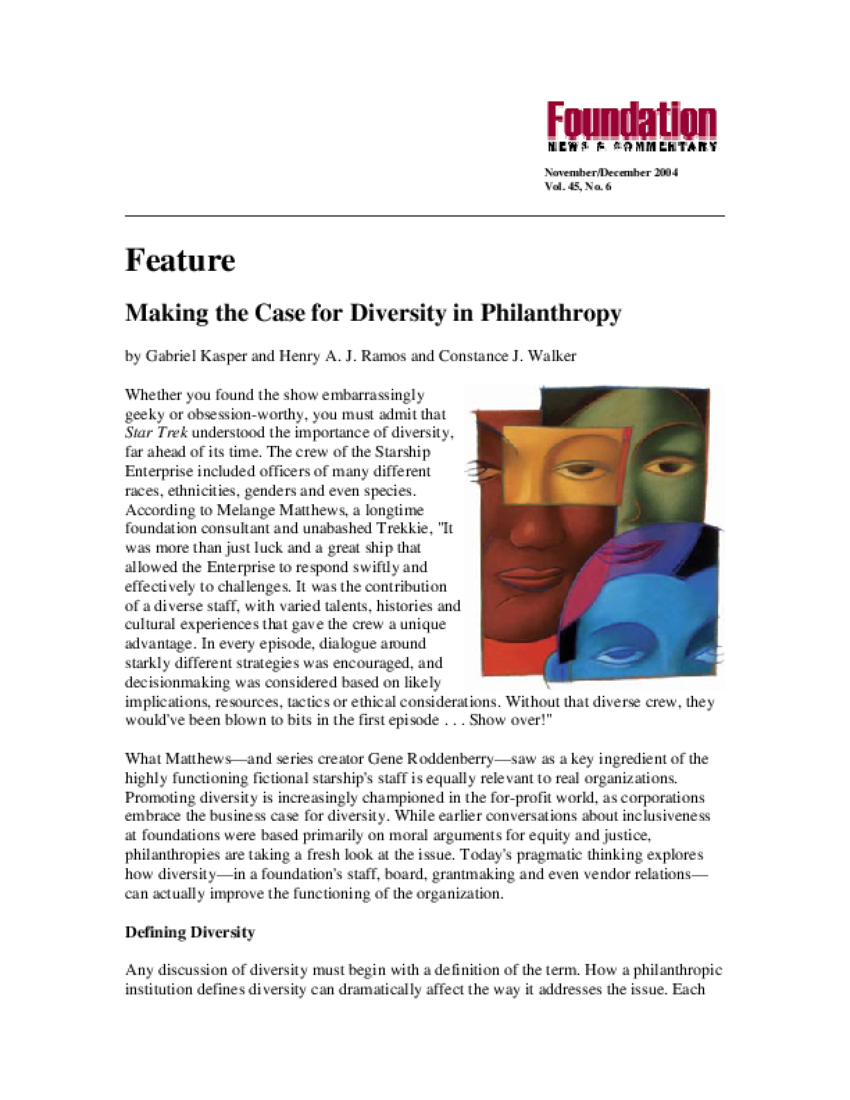 Making the Case for Diversity in Philanthropy