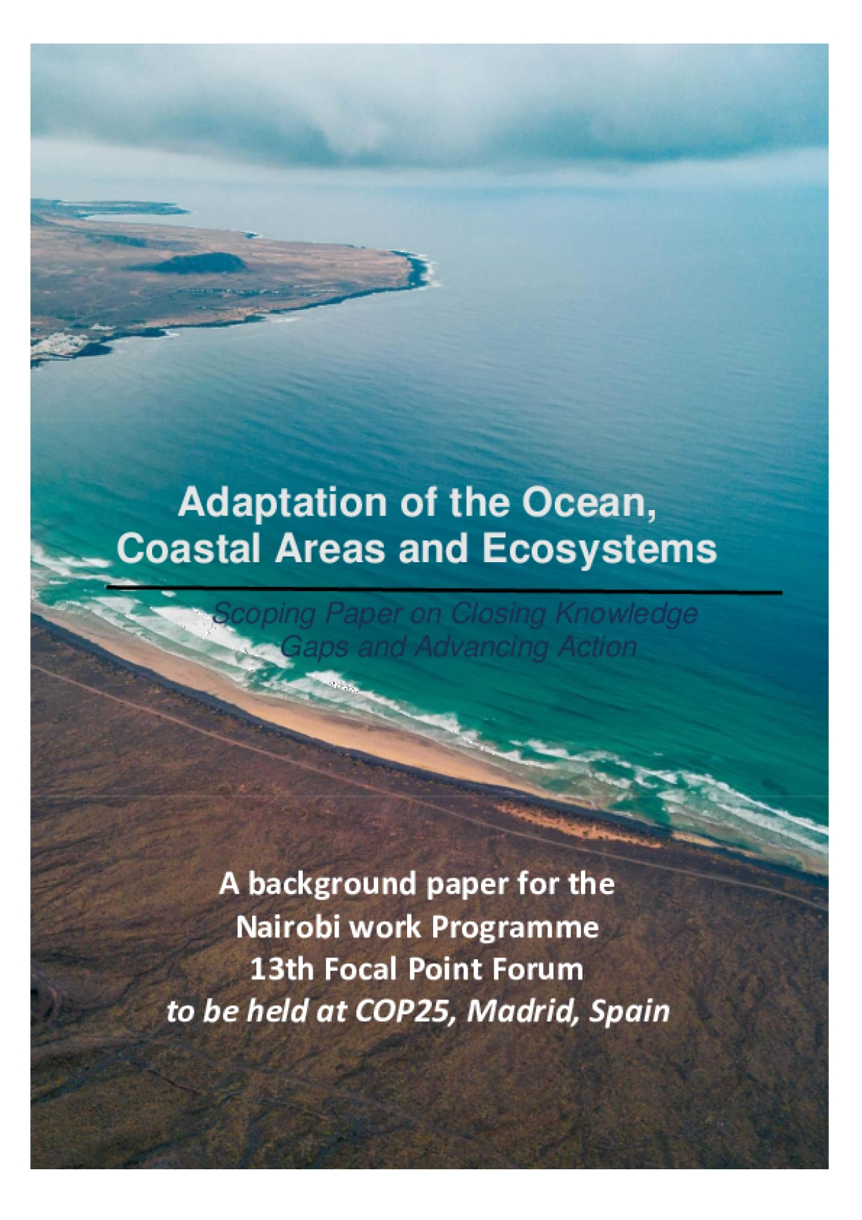 Adaptation of the Ocean, Coastal Areas and Ecosystems: Scoping Paper on Closing Knowledge Gaps and Advancing Action