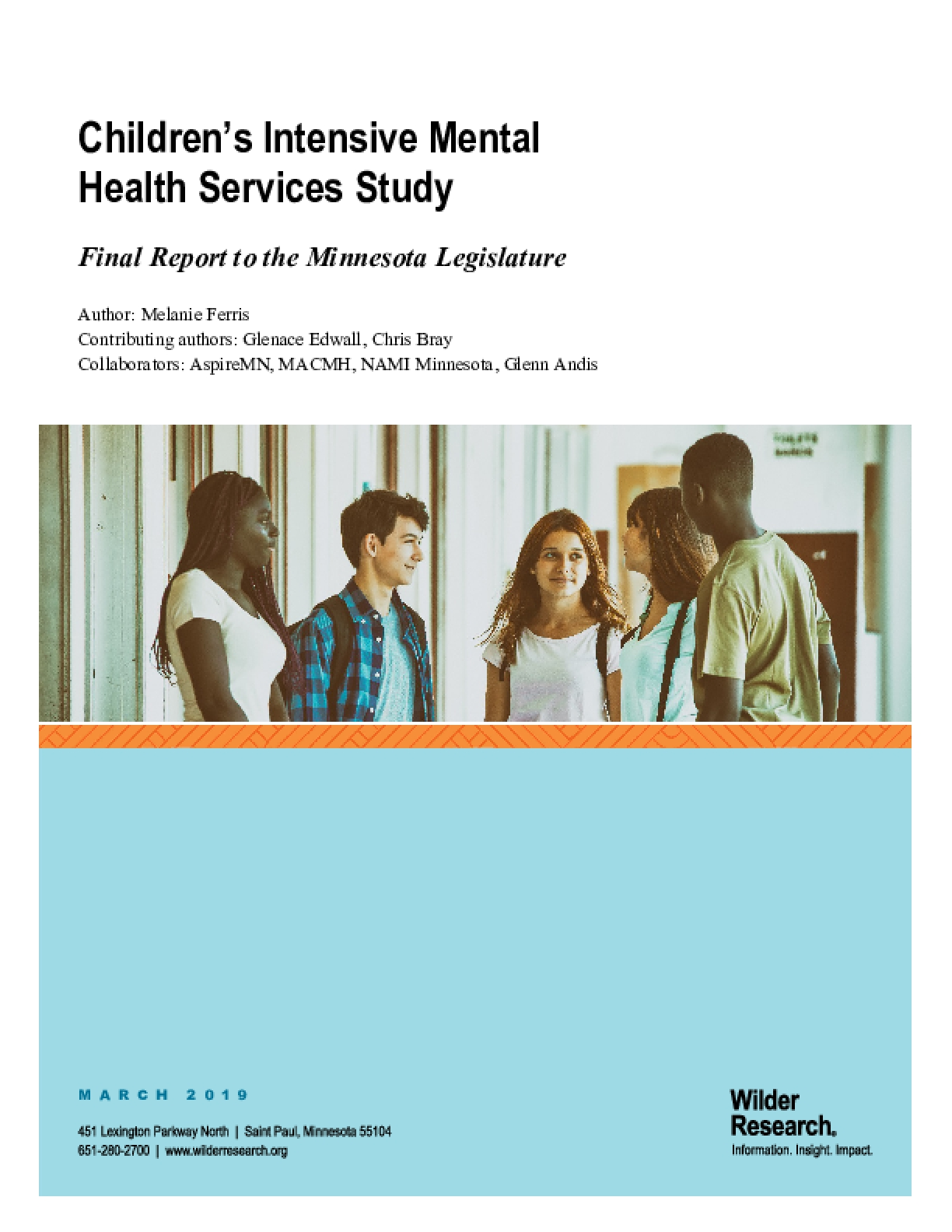 Children's Intensive Mental Health Services Study: Final Report to the Minnesota Legislature