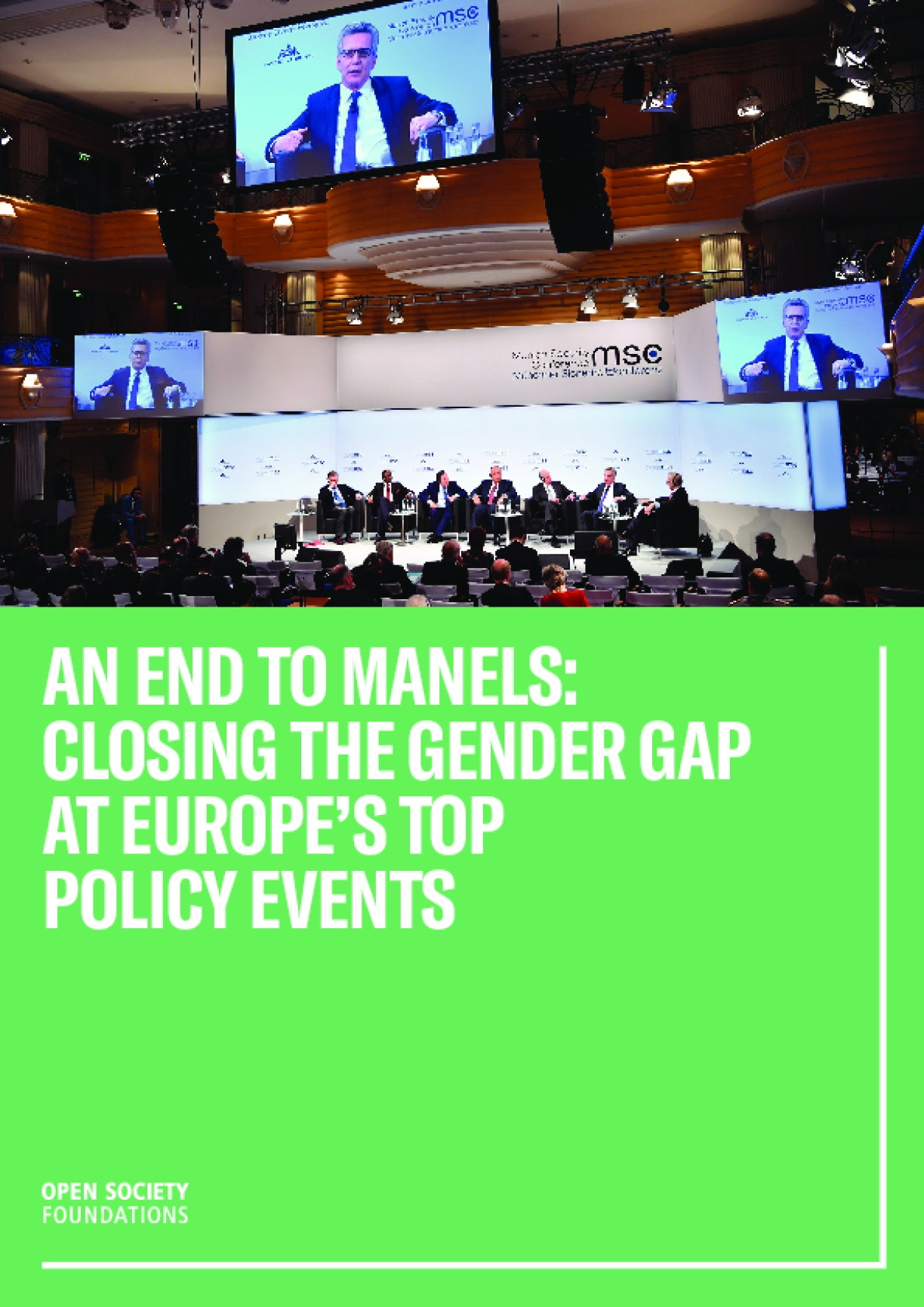 An End to Manels: Closing the Gender Gap at Europe's Top Policy Events