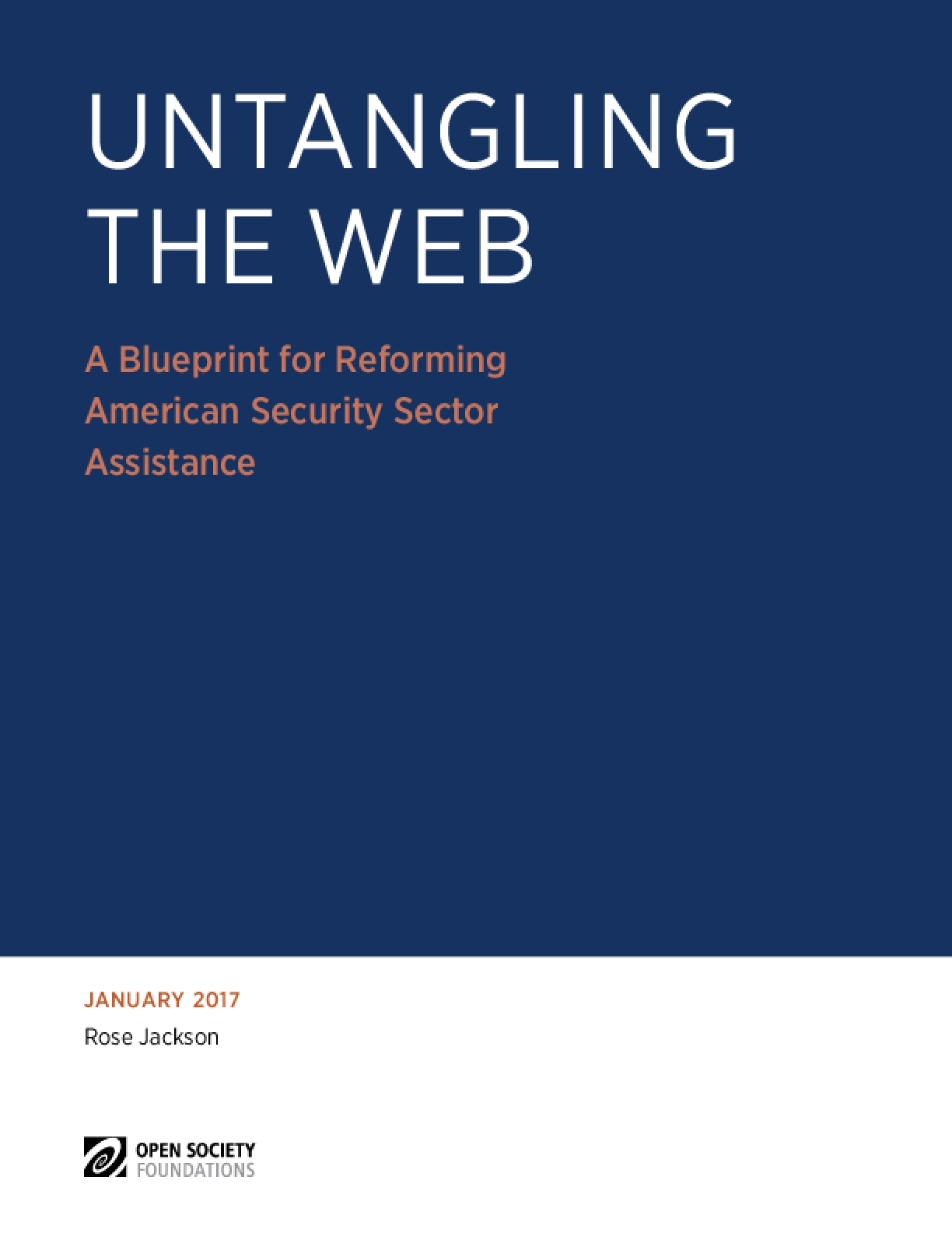 Untangling the Web: A Blueprint for Reforming American Security Sector Assistance